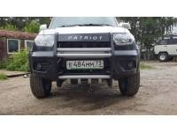Кенгурин на УАЗ Патриот 2015 Приоритет с защитой двигателя