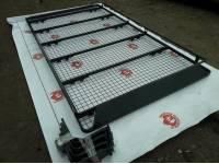 """Багажник """"Рыбак"""" на Газель, 12 съемных опор с роликом для загрузки лодки либо длинномера, с передним дефлектором (БКА ГАЗ-14-СВ)"""