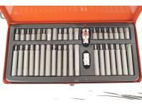 "Набор бит 40 предм. (материал S2, 1/2"", биты 30мм:4-12мм, T20-T55, М5-М12, биты 75мм: 4-12мм, T20-T55, М5-М12, переходник 2 шт - 10 мм 1/2, 3/8.)"